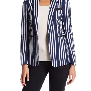 Striped fitted blazer worn once excellent